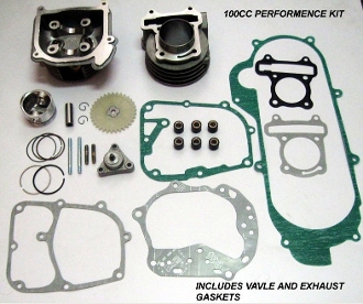100CC BIG BORE KIT FOR SCOOTERS WITH QMB139 MOTORS / 69mm VALVES