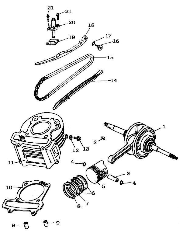 Camshaft Timing Chain For Chinese Scooters With 50cc Qmb139 Motors