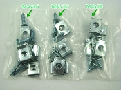 M4 30 PIECE SCREW SET WITH U CLIPS FOR CHINESE SCOOTERS, ATVS