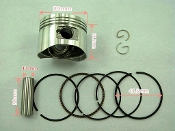 50cc PISTON and RINGS (39mm) FOR E-22 HONDA CLONE ENGINES