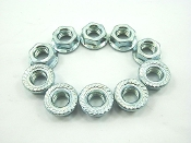 M8 FLANGE NUTS (10 PIECES) FOR SCOOTERS, ATVS, AND DIRT BIKES