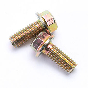 M6 x 14mm FLANGE BOLTS (2 PIECES) FOR GY6 MOTORS