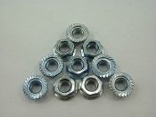 M6 / 6mm FLANGE NUTS (10 PIECES)