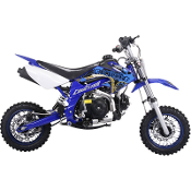 70cc Simi Auto Mini Size Dirt Bike (Blue)
