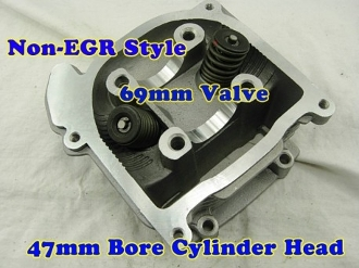 80cc CYLINDER HEAD WITH 69mm VALVES INSTALLED FOR SCOOTERS