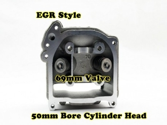 100cc EGR CYLINDER HEAD WITH 69mm VALVES INSTALLED FOR SCOOTERS